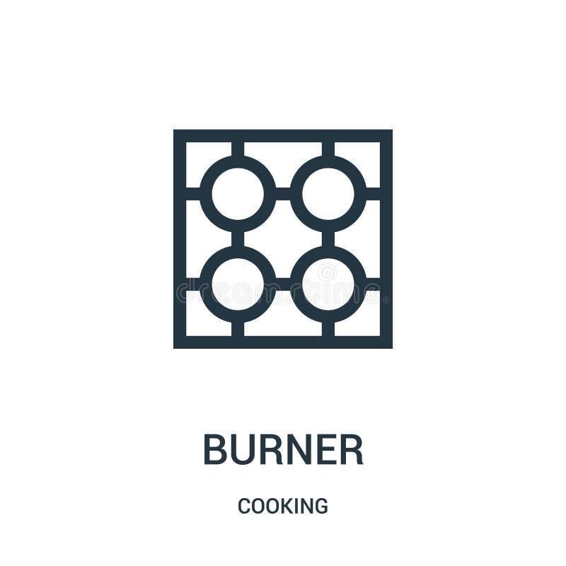 palnik ikony wektor od kulinarnej kolekcji Cienka kreskowa palnika konturu ikony wektoru ilustracja Liniowy symbol royalty ilustracja