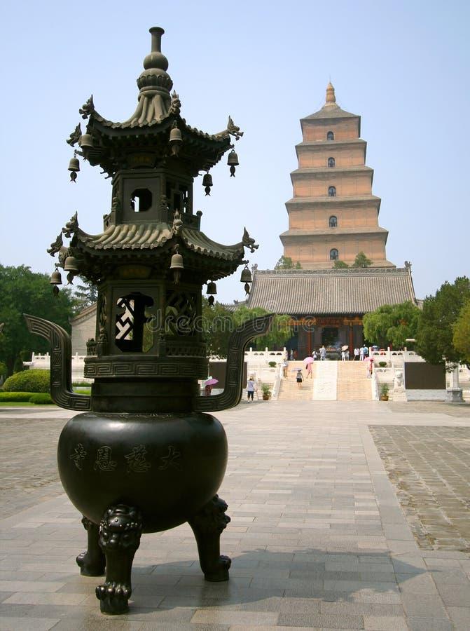 palnik pagoda gęsia wielka kadzidłowa obraz royalty free