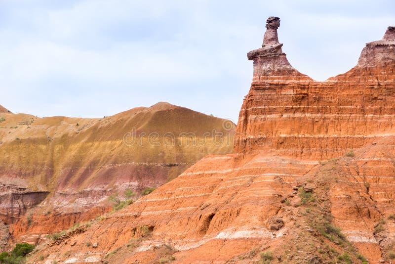 Palo杜罗位于得克萨斯的Caprock悬崖峡谷系统P 图库摄影