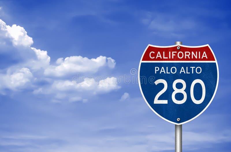 Palo Alto California. Road sign stock photo