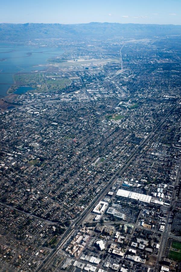 Palo Alto from the sky royalty free stock photo
