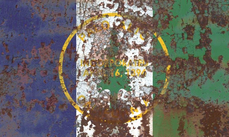Palo Alto-Stadtrauchflagge, Staat California, Vereinigte Staaten von morgens stockbild