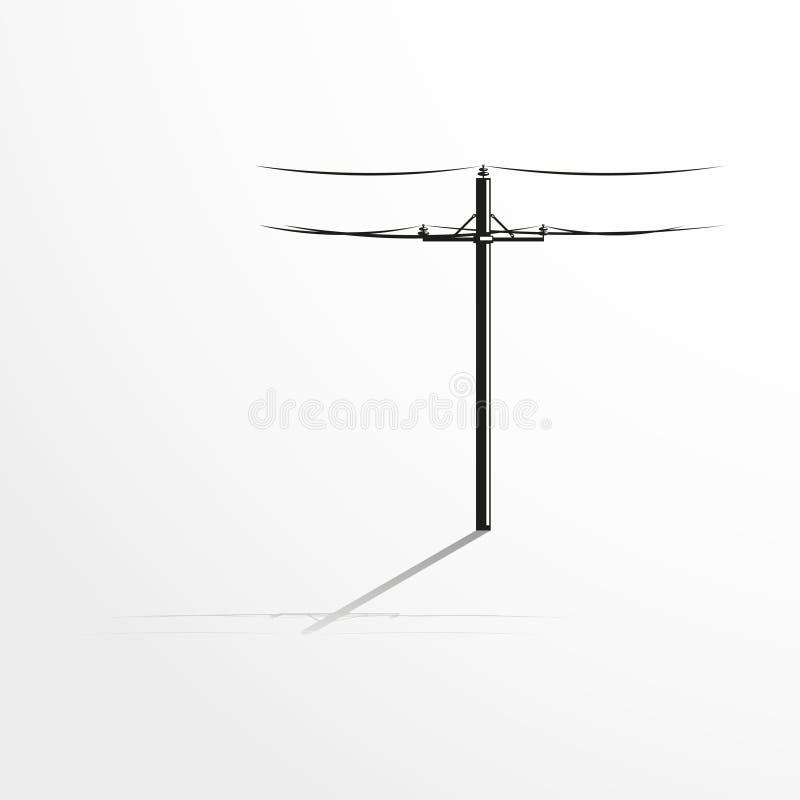 Palo con i cavi Illustrazione di vettore fotografie stock