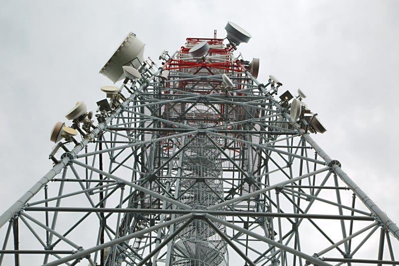 Palo de la torre del transmisor foto de archivo