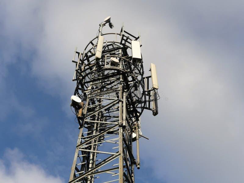 Palo del teléfono móvil, verde de Micklefield foto de archivo