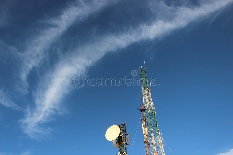 Palo della rete di comunicazione dal supporto Bromo fotografia stock libera da diritti