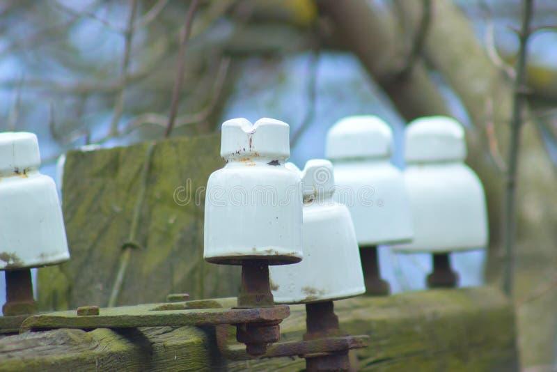 Palo di legno di compagnia d'elettricità fotografia stock