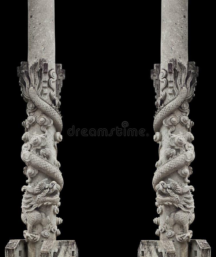 Palo di pietra del drago fotografia stock