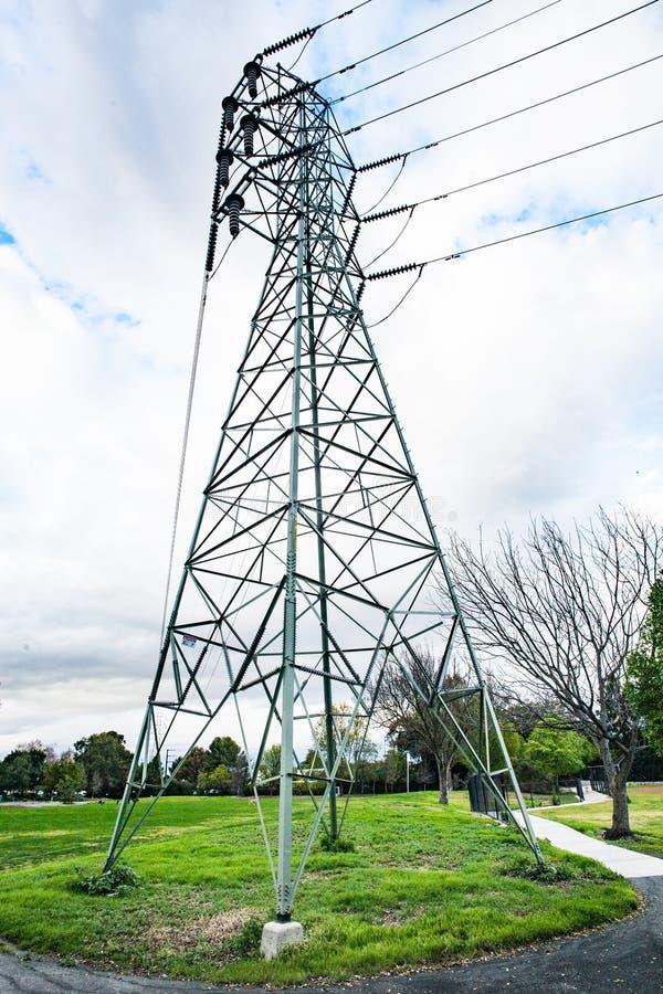 Palo di potere in Greer Park, Palo Alto, California immagine stock libera da diritti