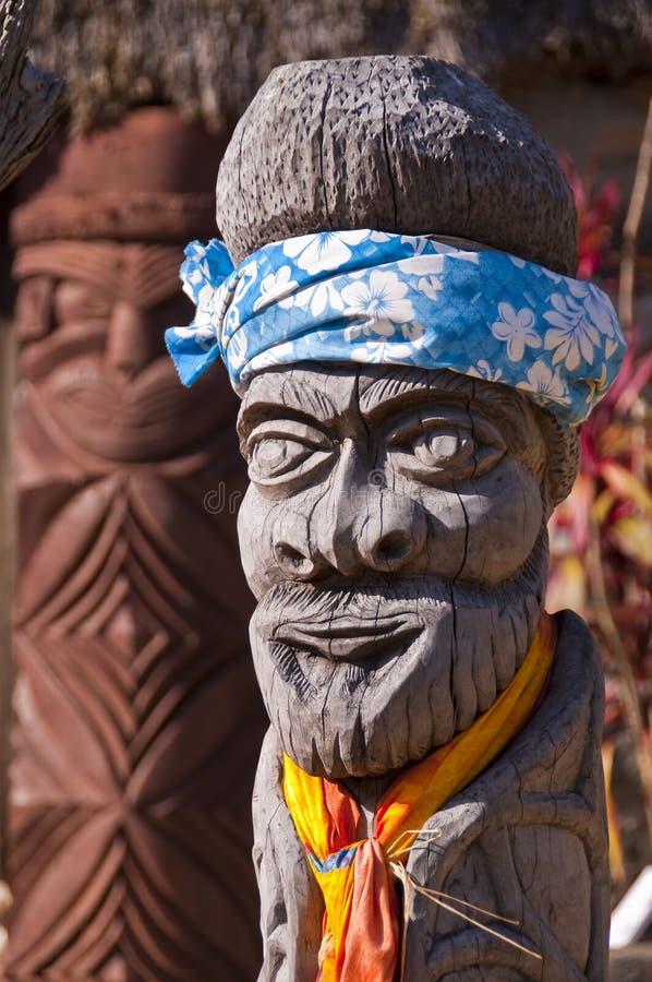 Palo di totem di Kanak fotografia stock libera da diritti