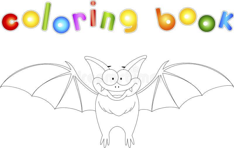 Palo divertido Libro de colorear para los niños Ejemplo de Digitaces stock de ilustración