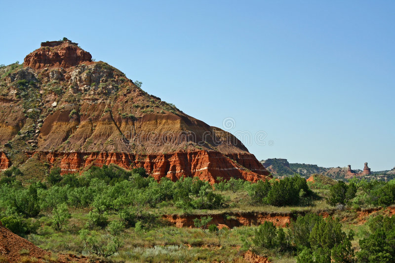 Palo Duro Canyon. A scenic view of Palo Duro Canyon state park in Amarillo, Texas, USA. Palo Duro is the second largest canyon on the North American continent ( royalty free stock photos