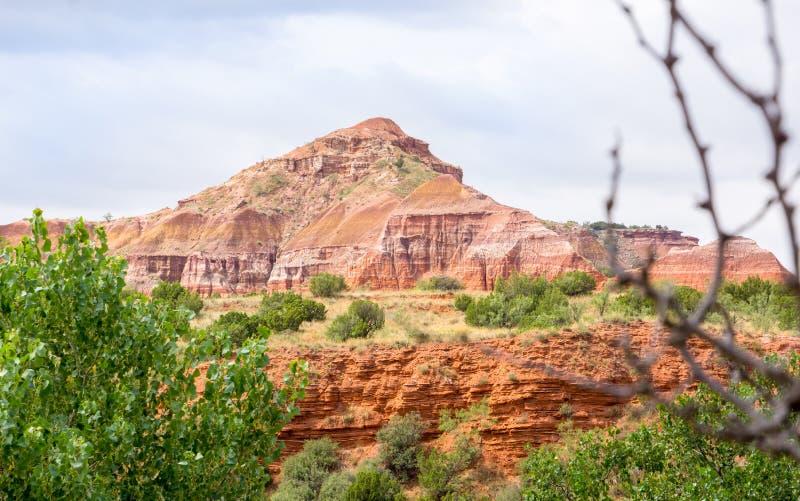 Palo Duro jaru system lokalizować w Teksas P Caprock Escarpment fotografia stock