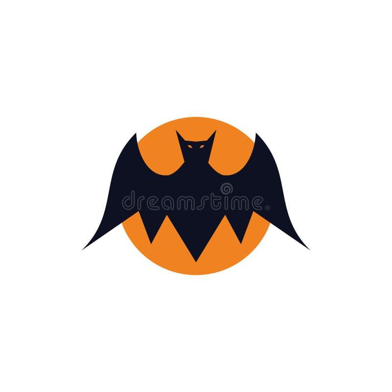 Palo malvado con concepto del logotipo del ejemplo de la Luna Llena libre illustration