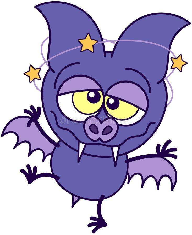 Palo púrpura que siente mareado ilustración del vector