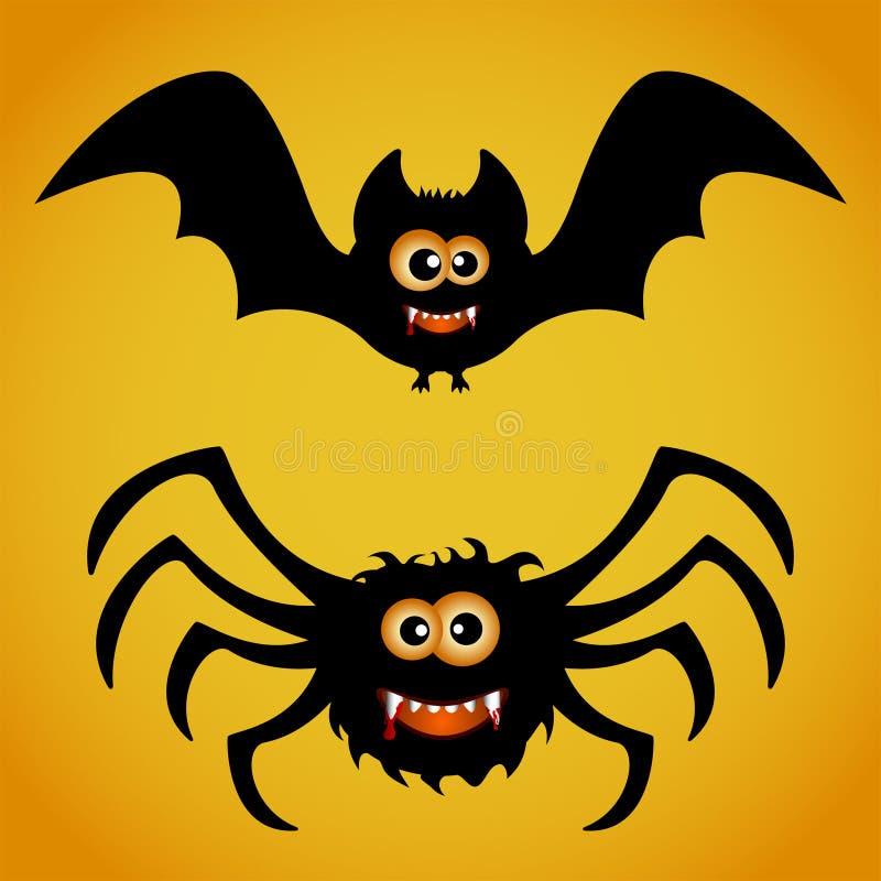Palo y araña stock de ilustración