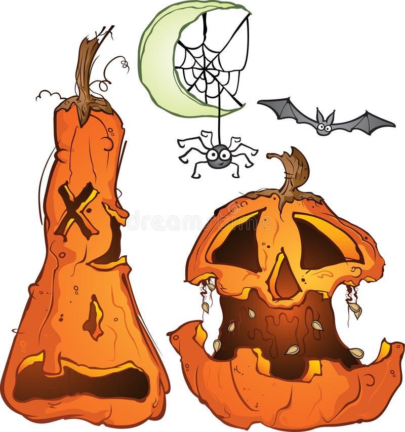 Palo y araña de la luna de las calabazas libre illustration