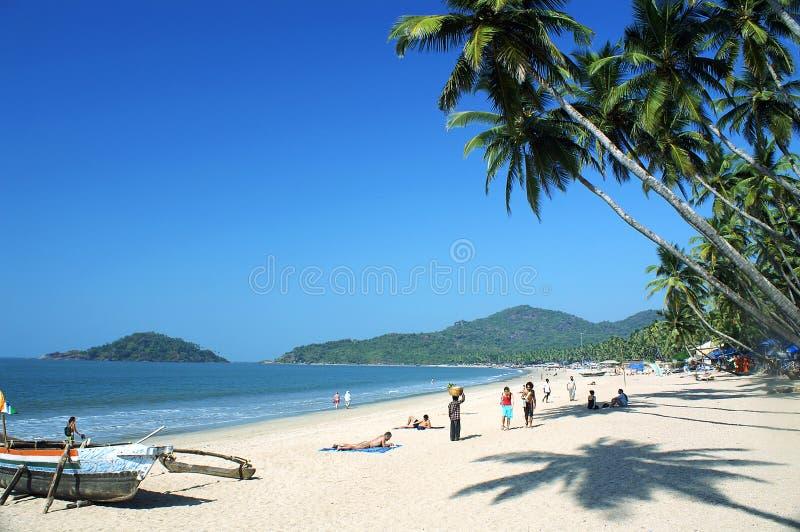 palolem пляжа стоковые изображения rf