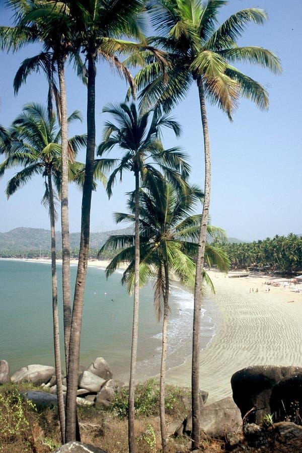 palolem de l'Inde de goa de plage images libres de droits