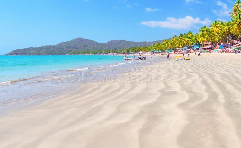 Palolem plaża Południowy goa indu zdjęcia royalty free