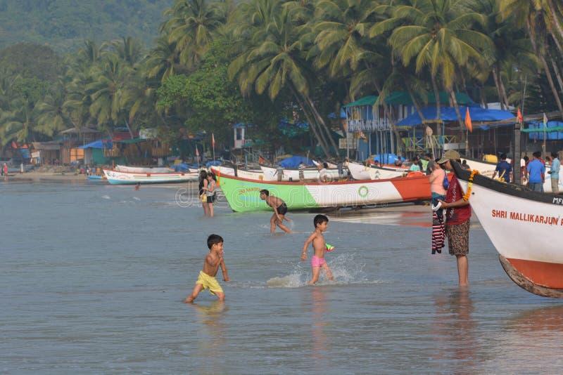 Palolem plaża w Goa zdjęcia stock