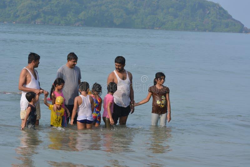 Palolem plaża w Goa fotografia royalty free