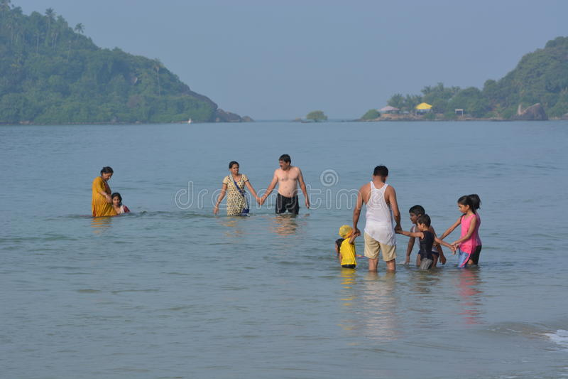 Palolem plaża w Goa obrazy royalty free