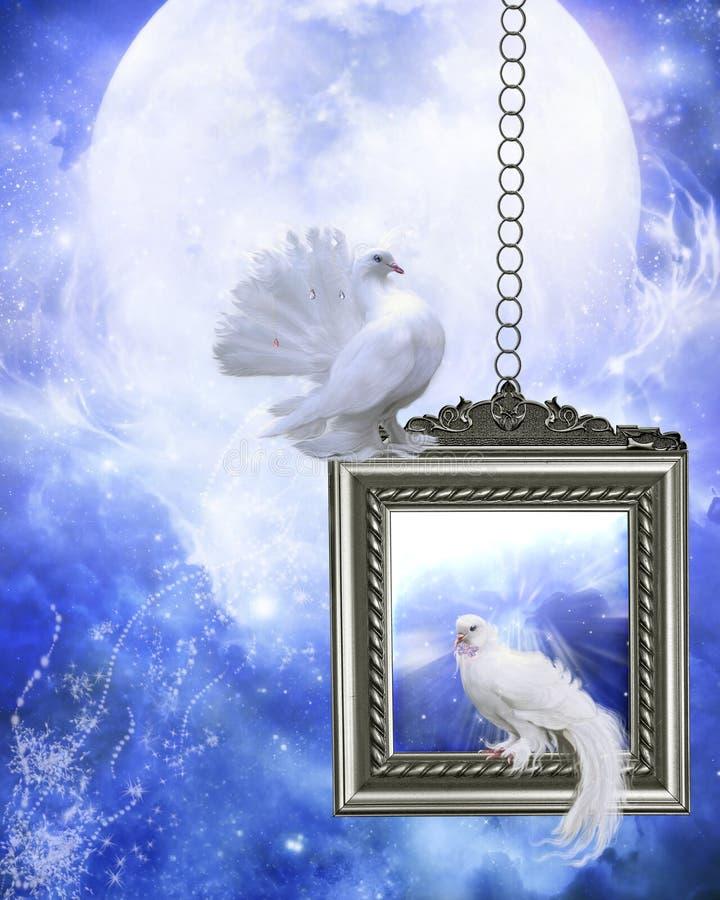 Paloma 2 de la paz ilustración del vector
