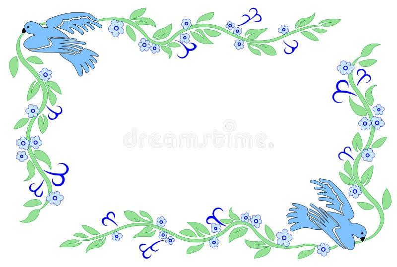 Paloma con una rama libre illustration