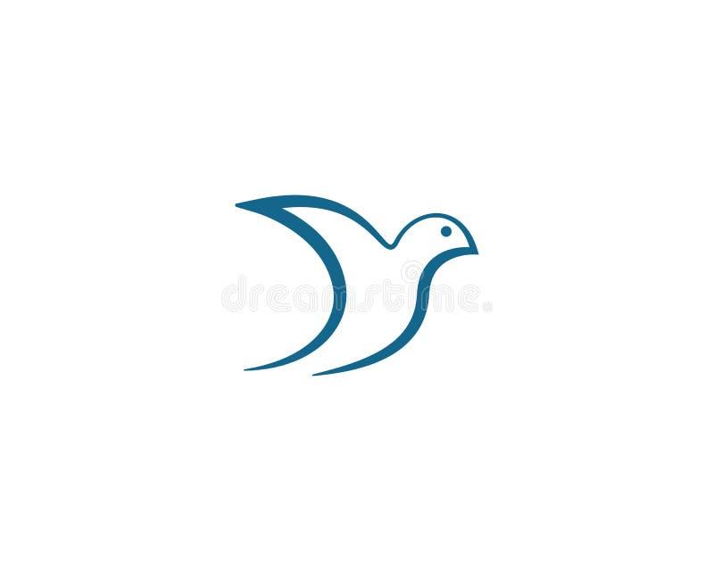 Paloma Logo Template del p?jaro stock de ilustración