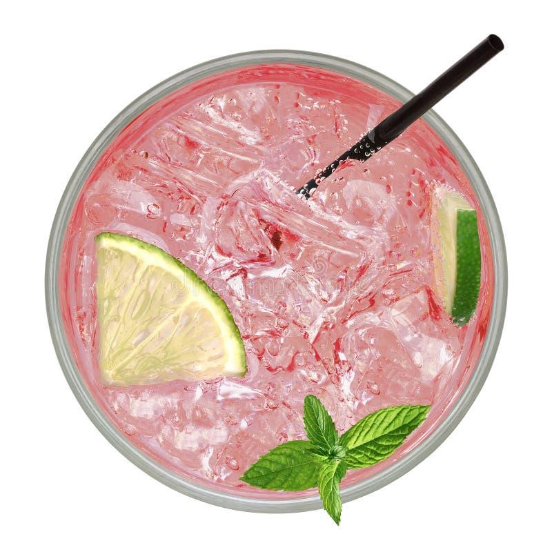 Paloma tequila koktajl lub menchia sodowany napój fotografia stock