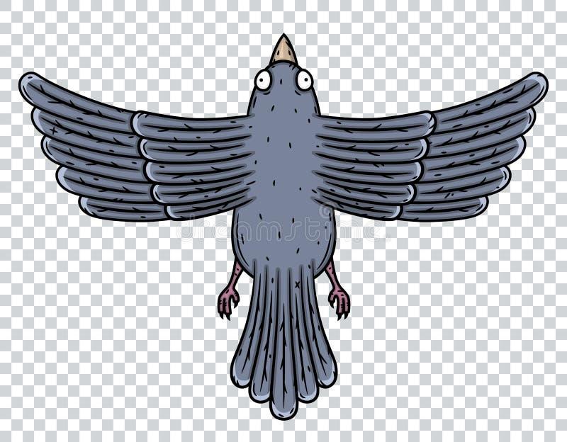 Paloma Visión superior Ilustración del vector aislada en el fondo blanco stock de ilustración