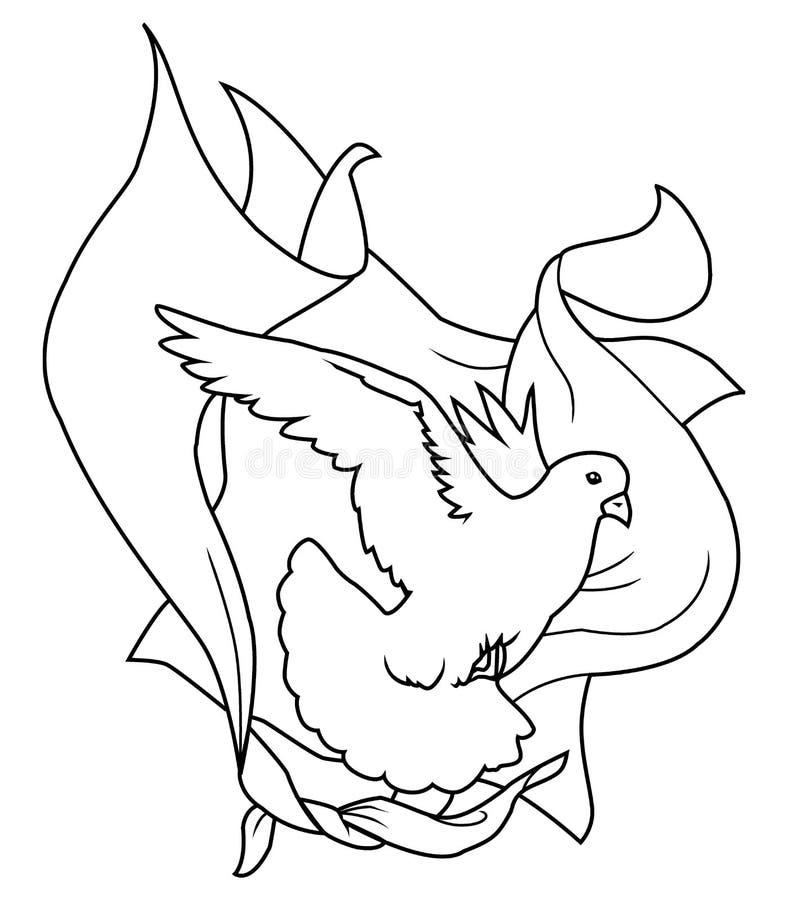 Paloma y velos stock de ilustración