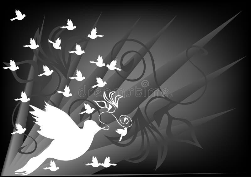 Palomas ilustración del vector