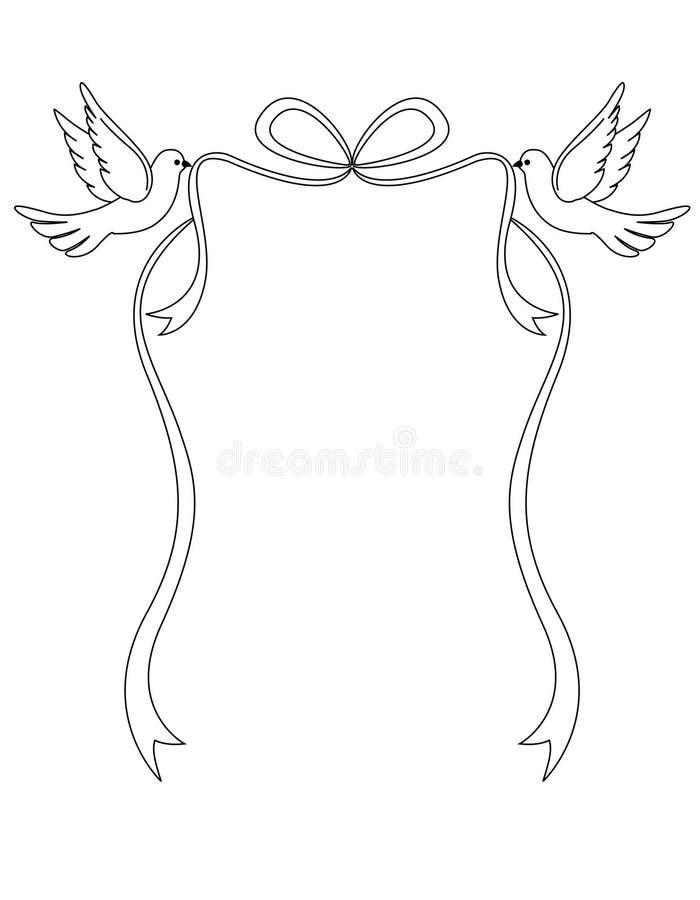 Palomas del amor ilustración del vector
