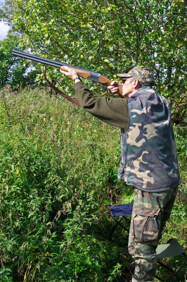 Palomas del shooting del cazador imagen de archivo