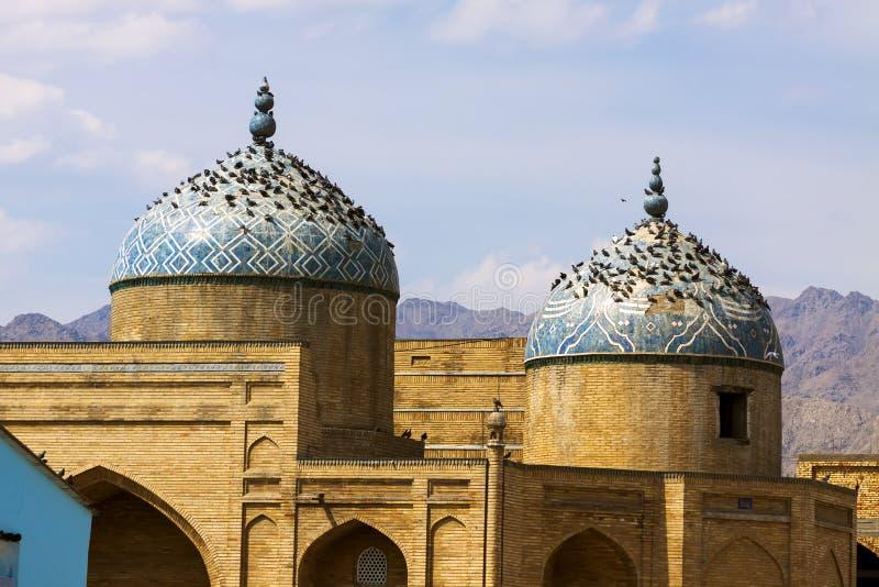 Palomas que se sientan en mezquita antigua fotografía de archivo libre de regalías