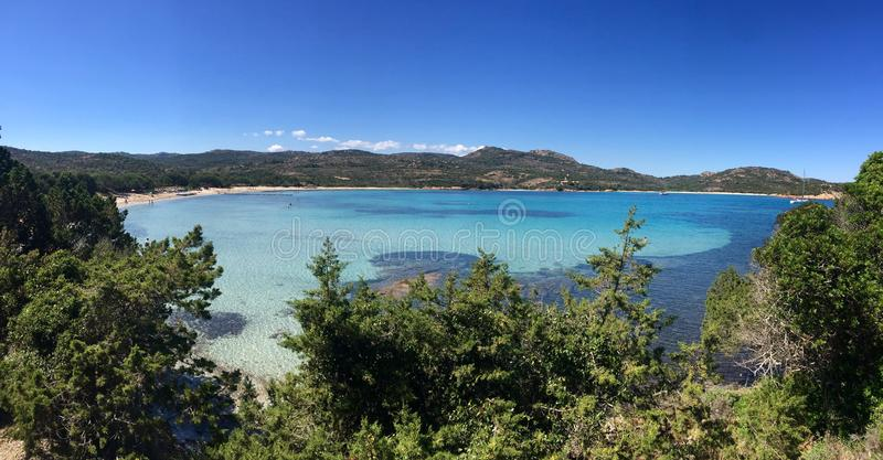 Palombaggia beach in corse royalty free stock photos