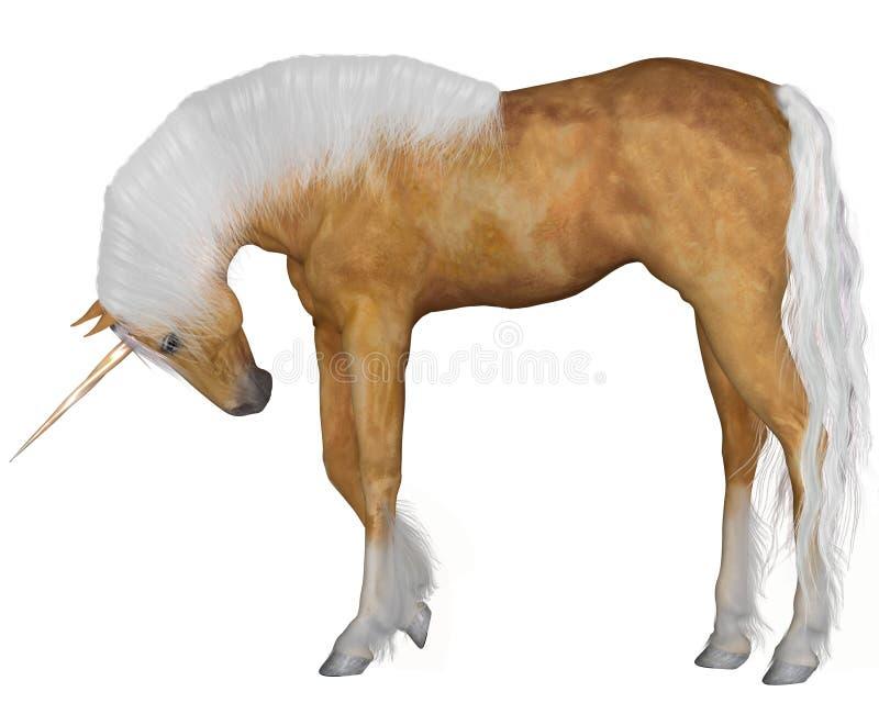 Download Palominoeenhoorn - Hoofd Neer Stock Illustratie - Illustratie bestaande uit hoorn, fairytale: 39102873
