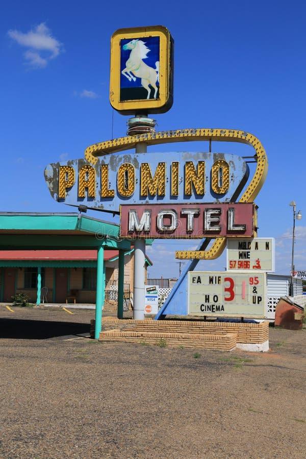 PalominoMOTELL, Tucumcari NM fotografering för bildbyråer