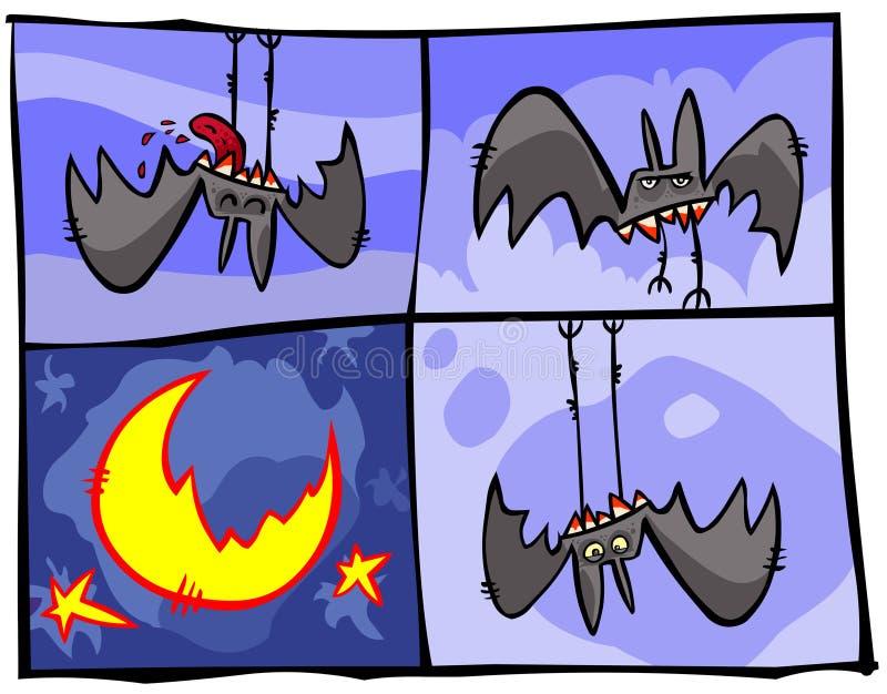 Palos de vampiro ilustración del vector