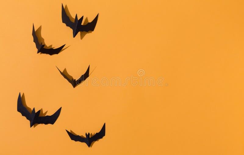 Palos del papel de Halloween fotografía de archivo