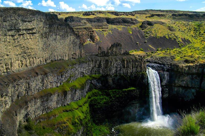 Palouse cai na região central do ` s Palouse de Washington State fotos de stock royalty free