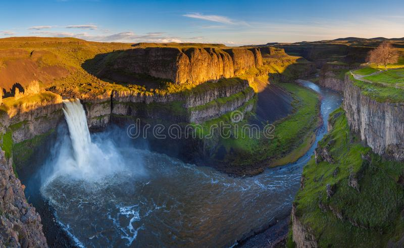 The Palouse Falls in Washington, USA royalty free stock images