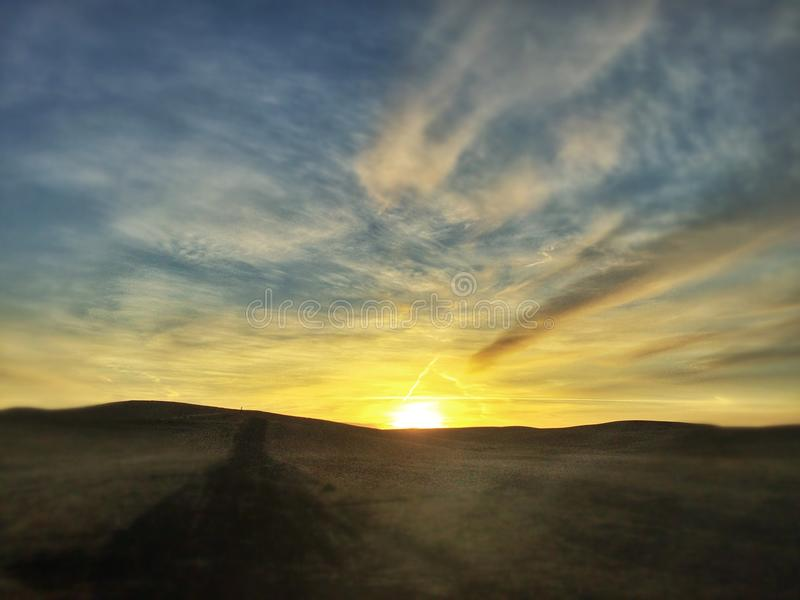 Palouse Glow. A Palouse morning. By Carisse Cain 2015 royalty free stock photos