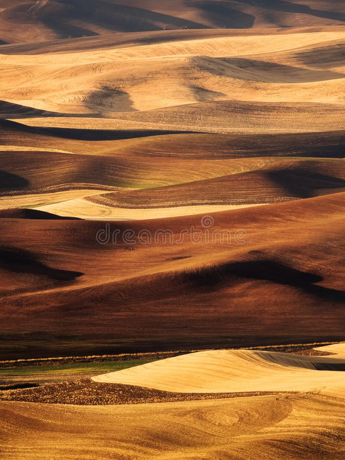 Palouse Valley in the fall. Sunset in the fall over the fields of Palouse, Washington