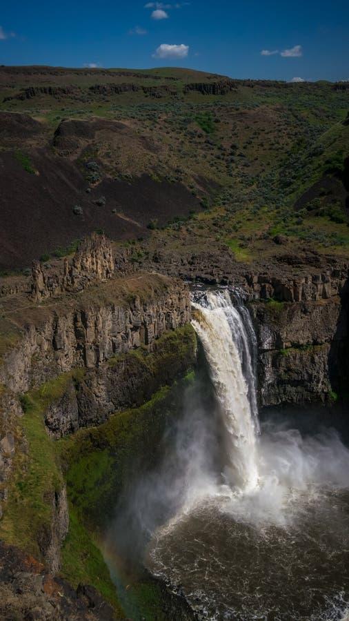 Palouse valt, de officiële watervallen van Washington State stock fotografie