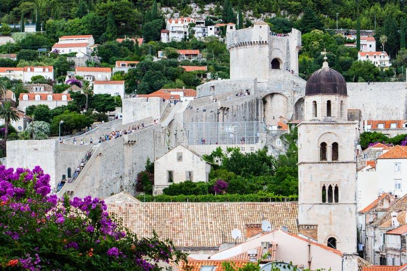 Palowa bramy sekcja Dobrovnik ` s miasta Stare Grodzkie ściany fotografia royalty free