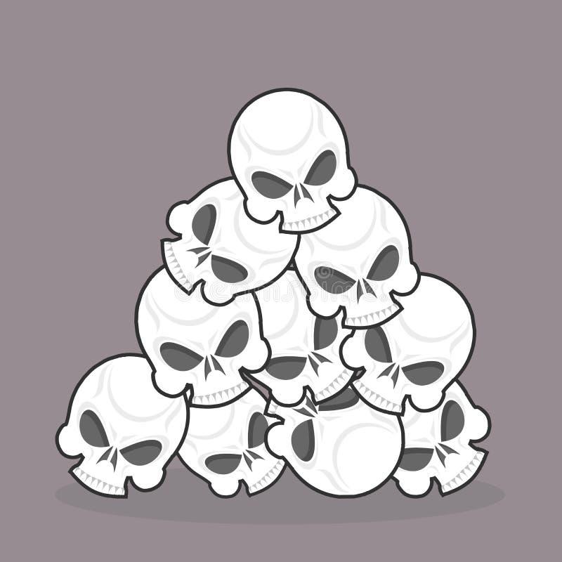 palowe czaszki royalty ilustracja
