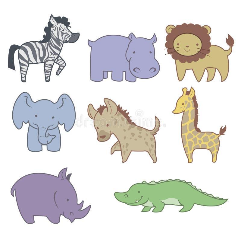 Pals felici della savanna royalty illustrazione gratis